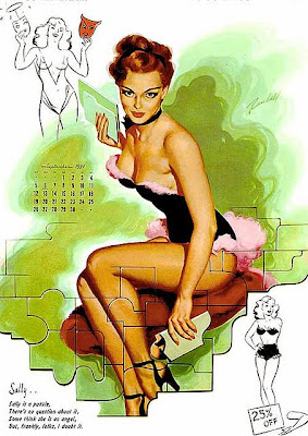 Bill Randall calendar girl