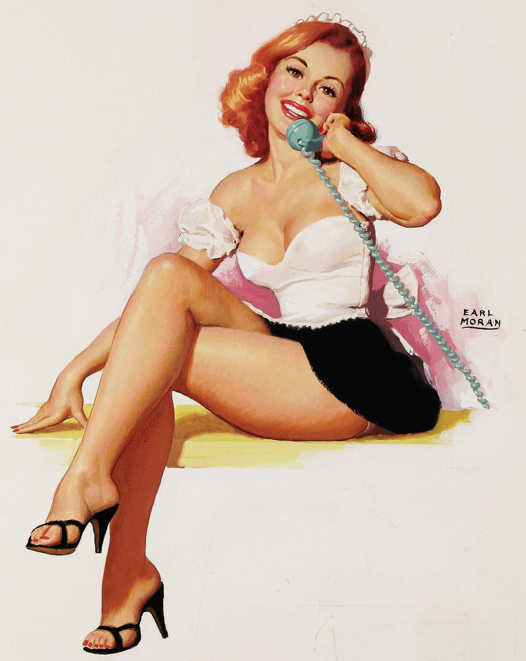 Girl in lingerie pin up