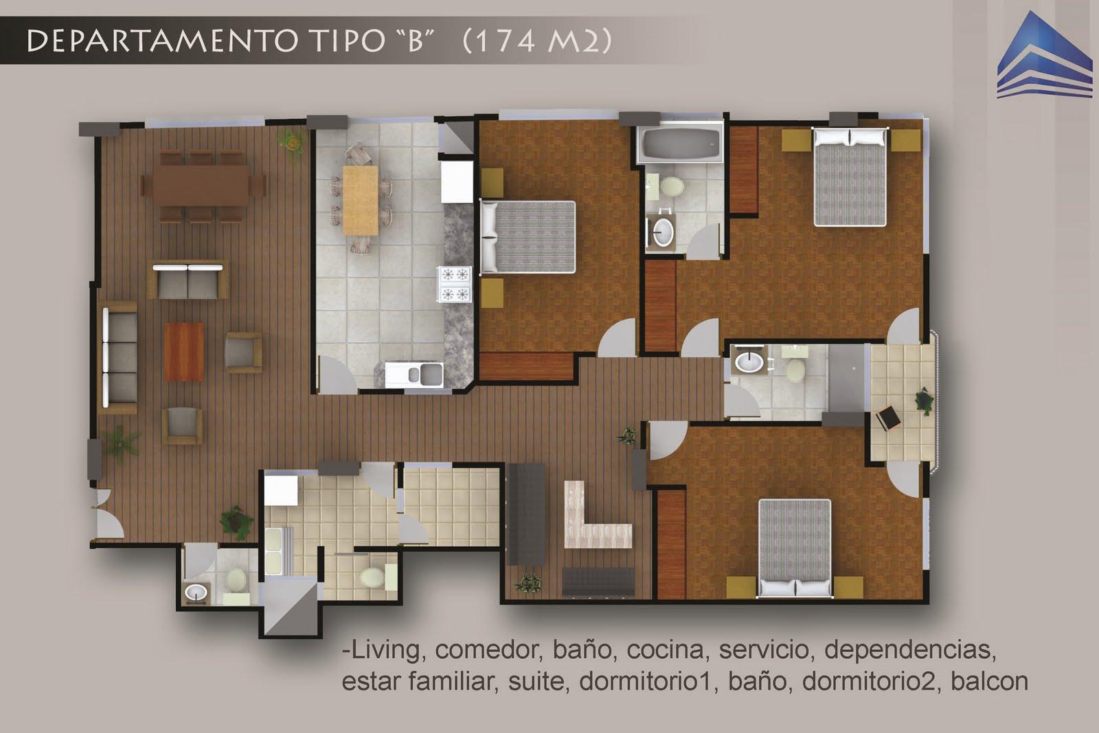 Edificio panorama departamentos en venta constructora for Planos de cocinas tipo americano