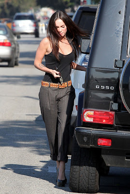 Fabulous On Megan Fox With Black YSL Platform Pumps