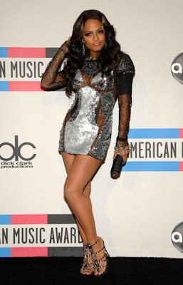 Christina Milian Lovely In Sequined Mini Dress