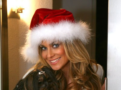 Carmen Electra Pretty In Santa Hat
