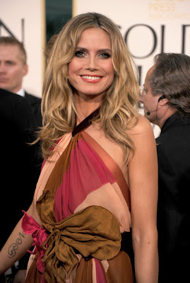 Heidi Klum Lovely In A Colorful Marc Jacobs Dress