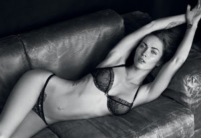 Megan Fox Lovely Hot In Armani Jeans and Underwear Spring 2011