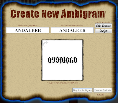 The gallery for --> Ambigrams Angels And Demons  Ambigram Free Creator
