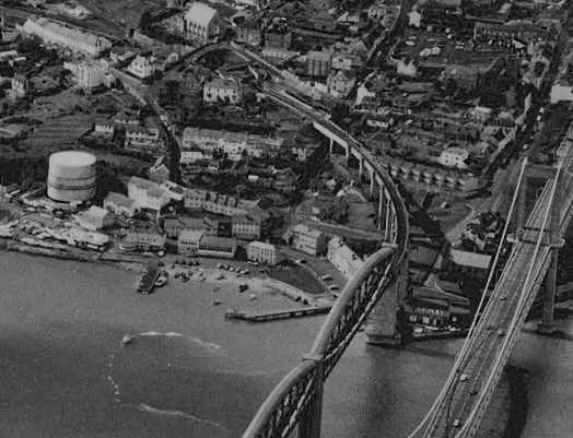 Aerial Shot of Saltash Showing the Location of the Old Waterside, ...