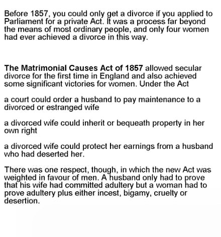 The Matrimonial Causes Act 1857