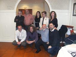 grupo de artistas con la edil de cultura de Ferrol y de terrassa