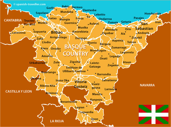 Image result for map of basque