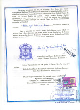 Decreto de Sagração Episcopal