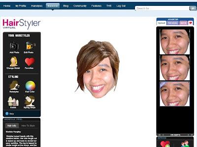Ha kat atas ni lah layout virtual hairstyler ni. Yang penting anda kena ada