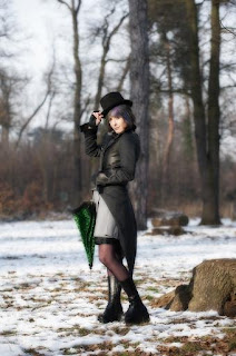 steampunk swallowtail jacket french clothing designer