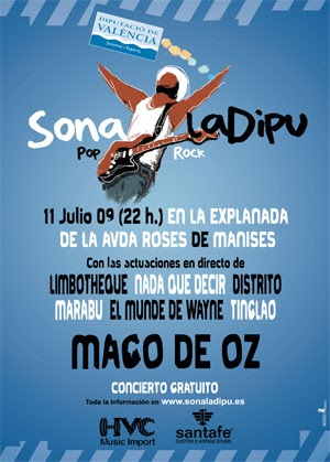 Compadreo rock este s bado m go de oz gratis en manises for Piscina municipal manises