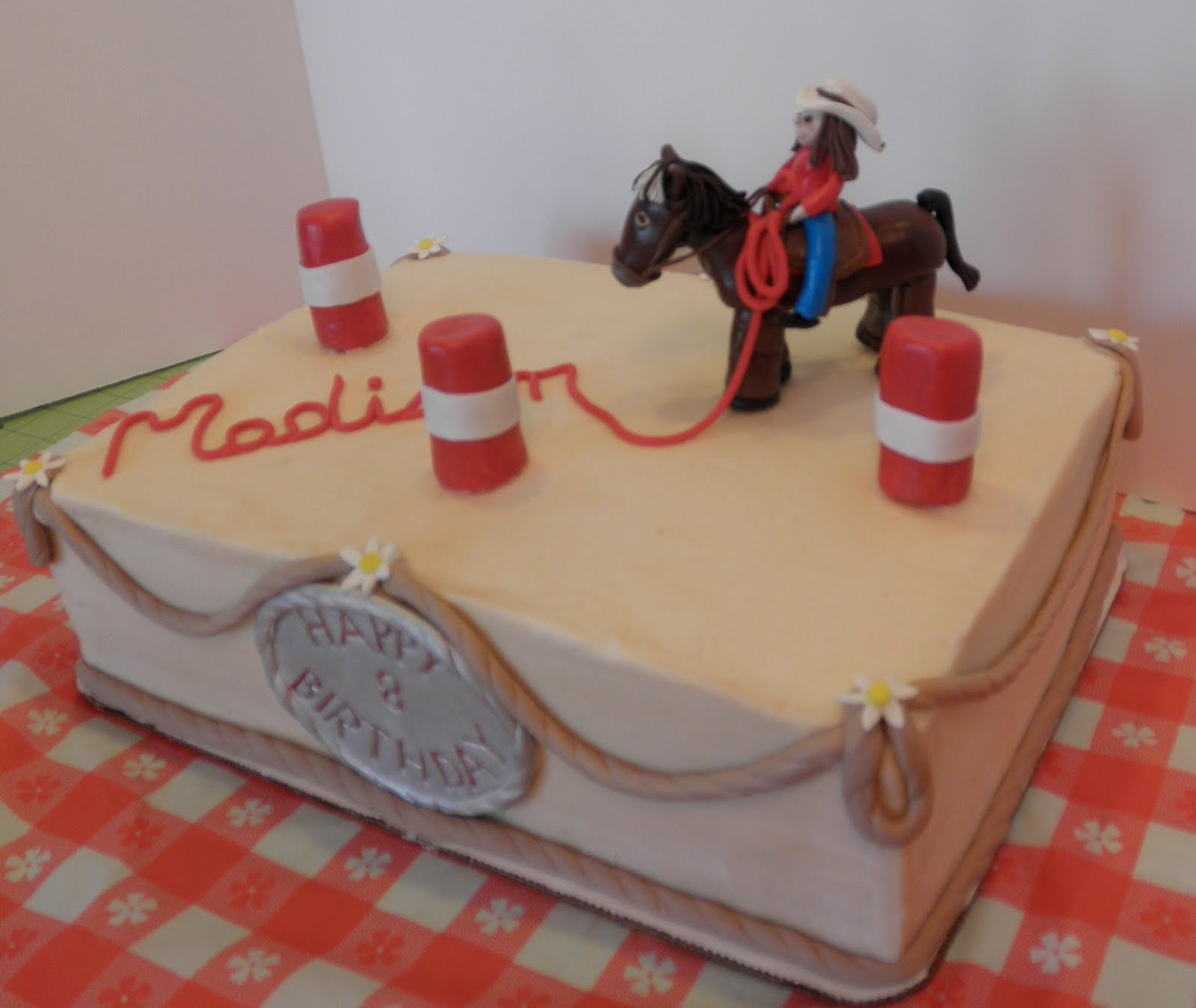 Sweet Ts Cake Design Horse and Barrel Racing Birthday Sheetcake