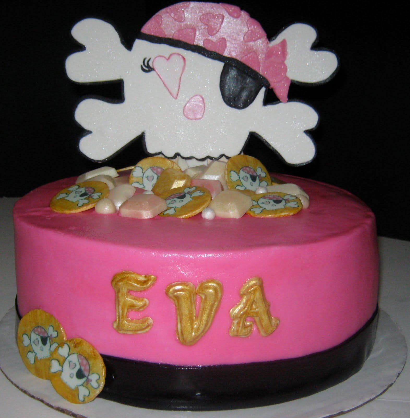 Sweet Ts Cake Design Pink Skull Crossbones Cake