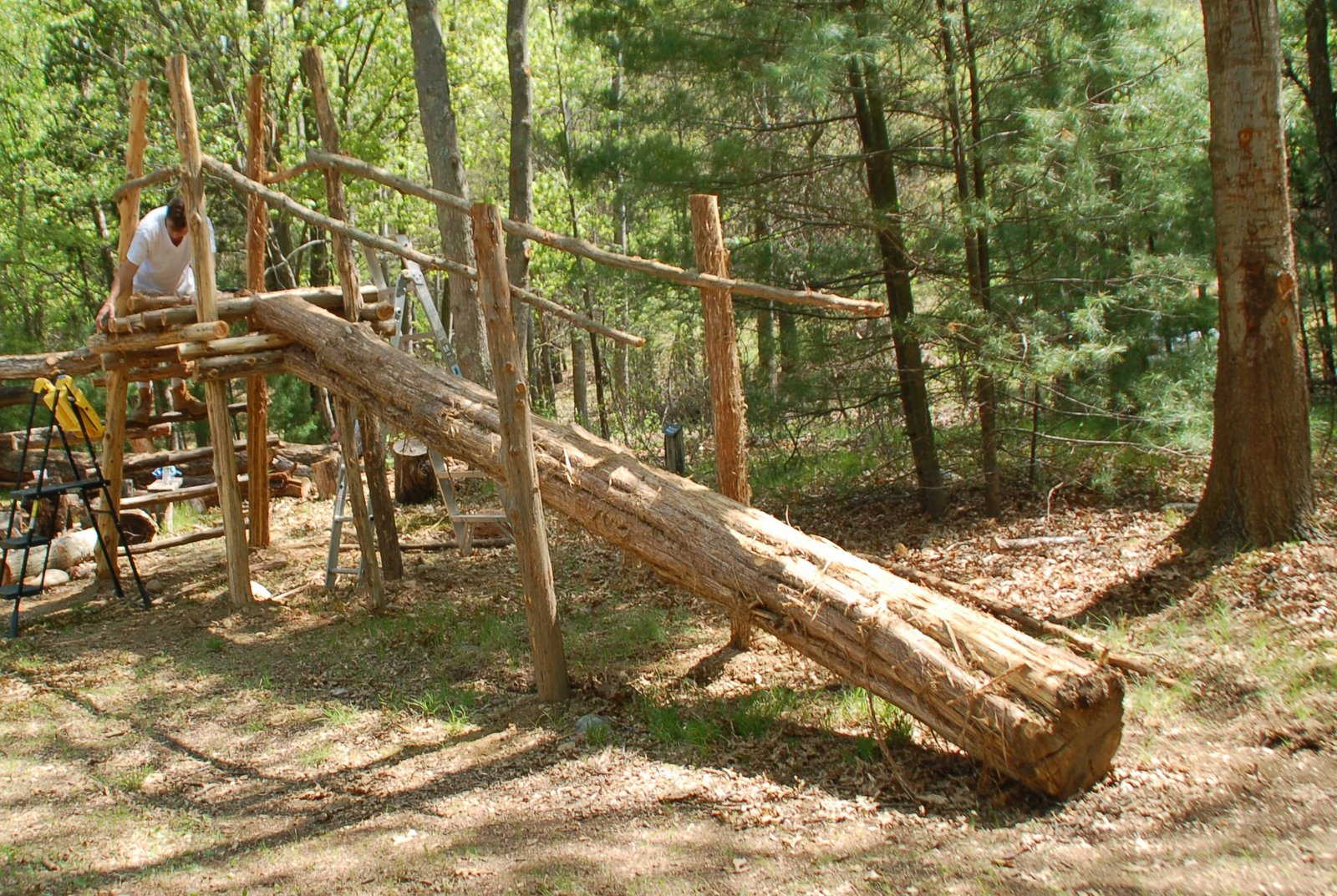 The aspetuck land trust blog natural playground build session may 22 - Natural playgrounds for children ...