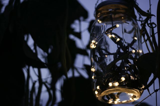Mason jar twinkle lanterns are incredibly easy to make all you need is a