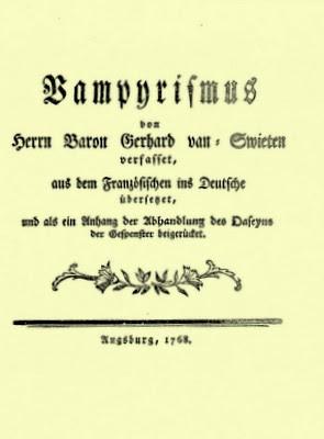 Van Swieten Vampyrismus 1768
