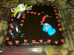 kek coklat with coklat ganache