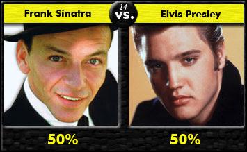 Frank Sinatra vs. Elvis Presley