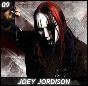 Joey Jordison from SlipKnot and his Drumstick