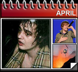 Jared Woods April 2010: Met Pete Doherty, Just Bieber Tops the Charts and Eyjafjallajokull erupts