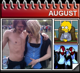 Jared Woods August 2010: Met Lizzie, Lisa Simpson nearly gets married, saw The Bloody Beetroots