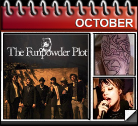 Jared Woods October 2010: The Funpowder Plot launches, I get a tattoo from Scab, Alice Glass gives me Jack Daniels