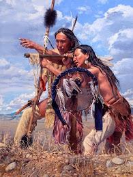 Indios oteando el horizonte