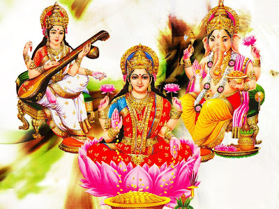 ganesh wallpapers. Free Laxmi Ganesh Wallpaper