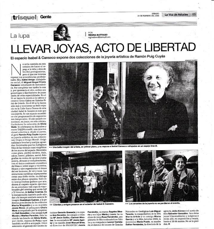La Voz de Asturias.Imago Mundi y Utopos
