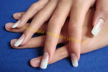 Unhas de gel com tips