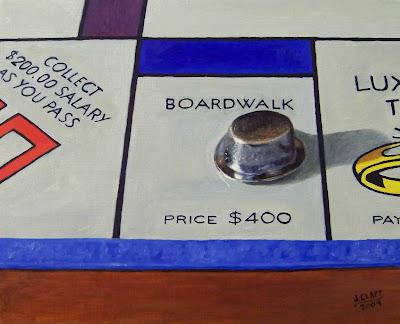 Art work by jclappart boardwalk monopoly 10 quot x 8 quot oil sold