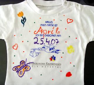 April's special T-shirt