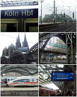 collage of photos of Cologne's central train station