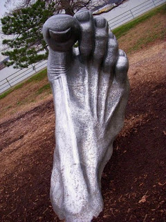 the awakening sculpture - foot