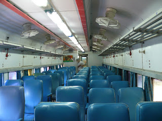 interiors of my coach after all passengers had alighted at new delhi