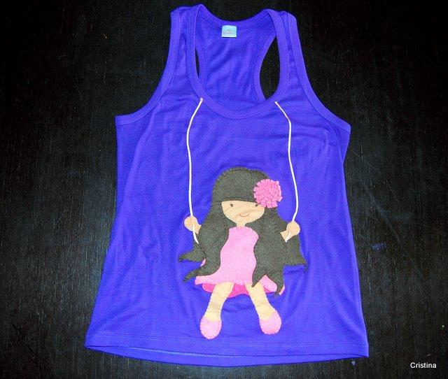Camiseta Fieltro Nena Columpio