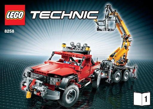 8258 Crane Truck, B-Model features a 'Duty Wrecker' and building  instructions are divided into 8 files (2 sets of 4, for each main part)  which you may ...