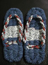 X3,20090902,Japan樽井美樹母女送的手織和式拖鞋