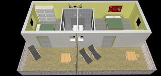 La cascade inrichting indeling hotelkamers en suite - Kamer van bian ...