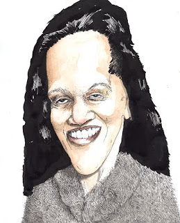 mayor_linda_thompson_harrisburg_portrait_photo_illustration_cartoon_drawing_lunatic_caricature_watercolor_pen_ink_act_47_distressed_pennsylvania