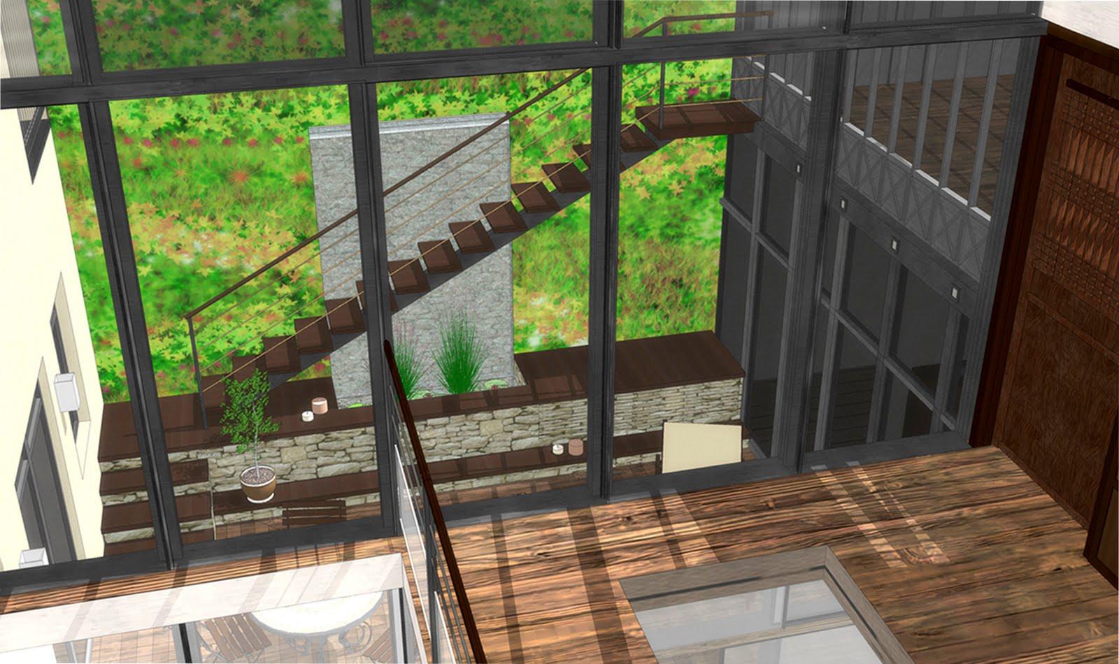 Maison moderne avecpatio - Plan de maison avec patio ...