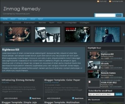 The Zinmag Remedy Blogger Template