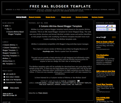 Minibox 3 Column Blogger Template