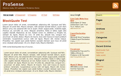 Prosense Theme For Blogsome