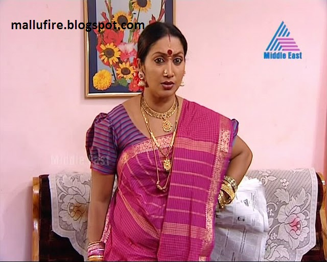 indian serial and cine actress: Sexy look of unknown serial aunty