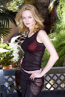 Heather Graham unknown photo shoot sexy red bra and black sheer top