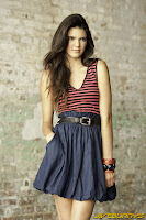 Kendall Jenner in Trendy Stylish Striped Fashion Style Model Photoshoot Session