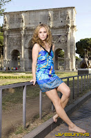Ashley Jones little blue dress